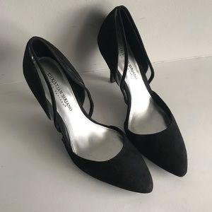Black heels suede classic Christian Siriano